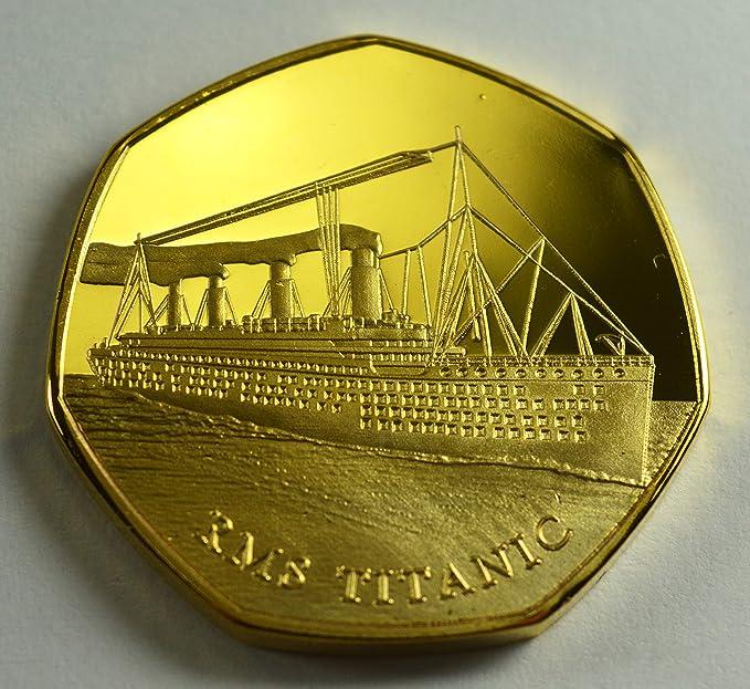 RMS Titanic, White Star Line - Álbumes de Monedas conmemorativos de Oro de 24 Quilates, coleccionistas de 50 páginas, Caza de Monedas: Amazon.es: Hogar