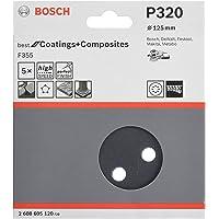 Disco de Lixa Bosch F355 Best for Coatings and Composites; 125mm G320 Pacote com 5 unidades