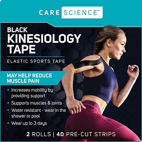 Support KT Synthetic Ares Extreme Black Kinesiology Elastic Sports Tape
