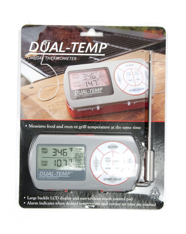 amazon com charcoal companion dual temp digital thermometer