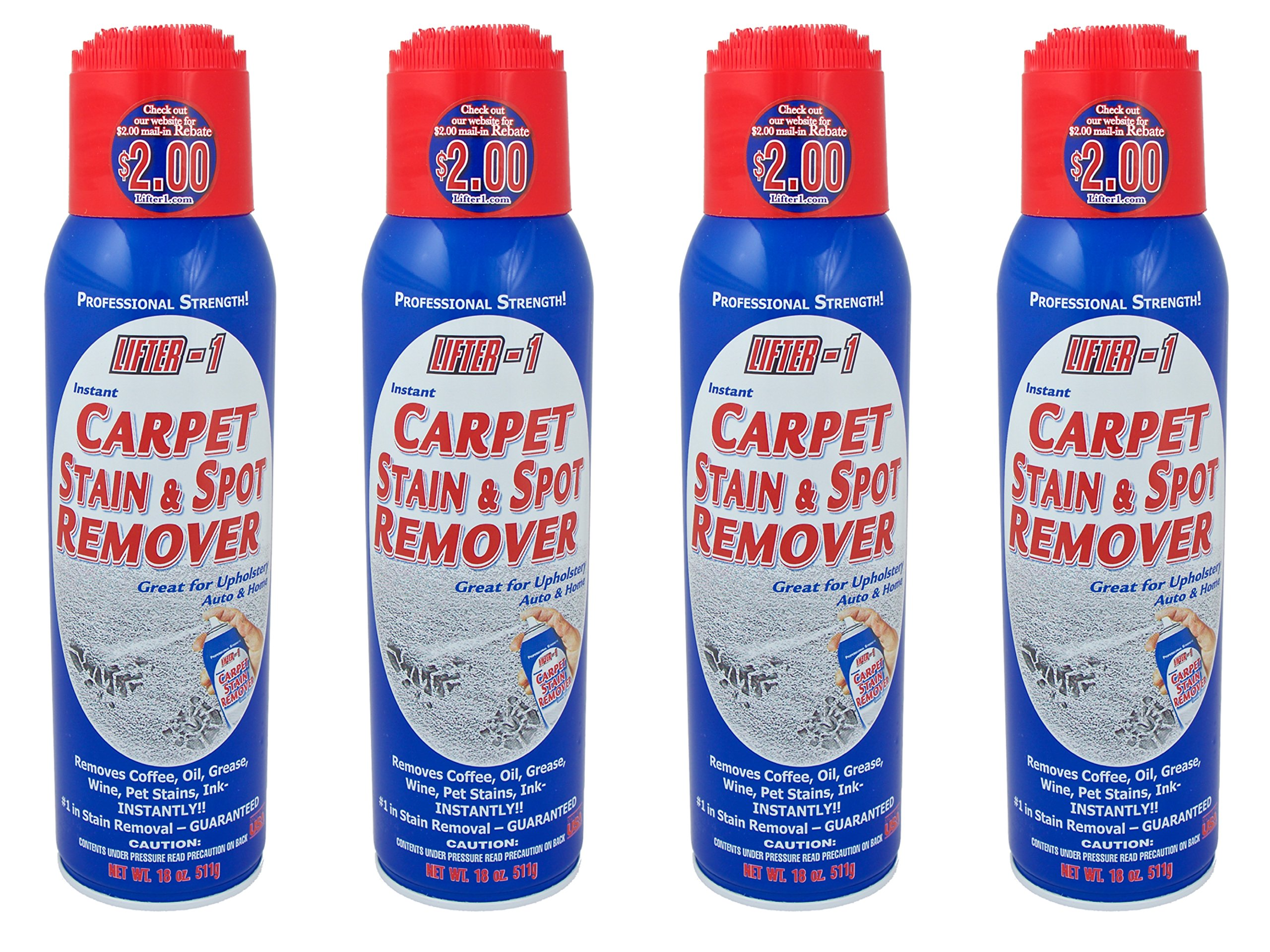 18 Oz. Lifter 1 Carpet Stain & Spot Remover (Bundle of 4 Cans) by Lifter-1