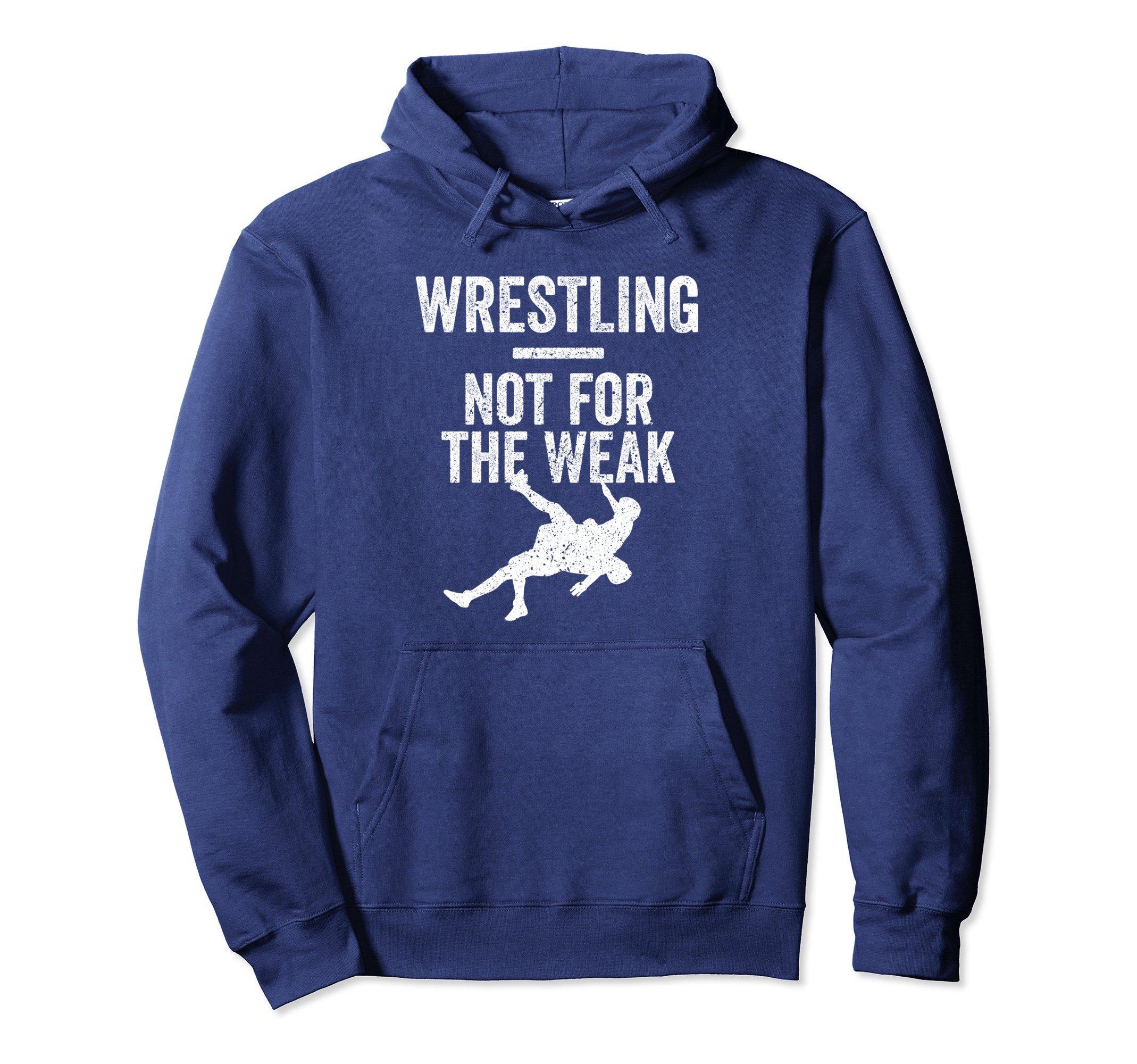 Unisex Not For The Weak Wrestling Hoodie for Wrestlers, Gift, White XL: Navy