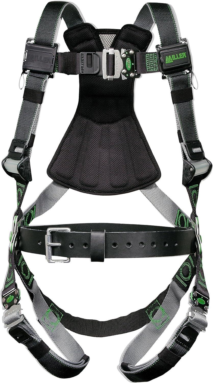 Miller Revolution Full Body Safety Harness mit Quick Connectors & Removable Belt, Size 2X & 3X, 400 Lb. Capacity (Rdt-Qc-B/Xxl/Xxxlbk)