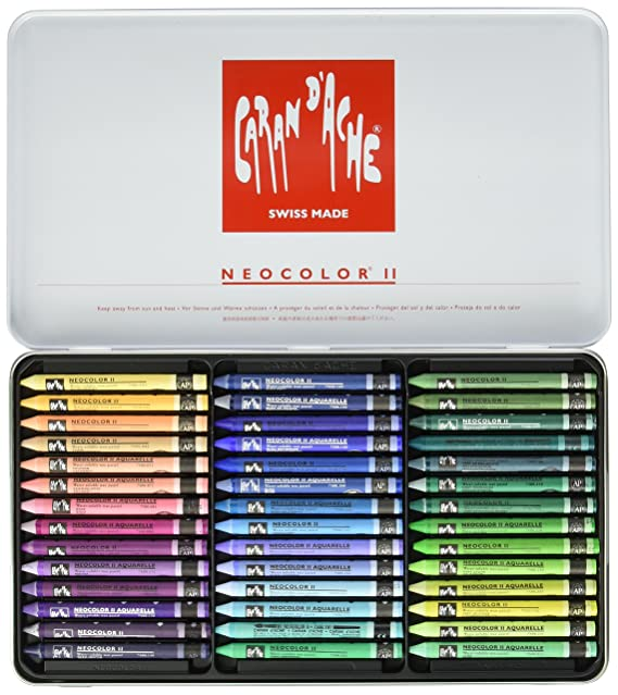 check-out 4ece9 f38f1 Caran d'Ache Classic Neocolor II Water-Soluble Pastels, 15 Colors