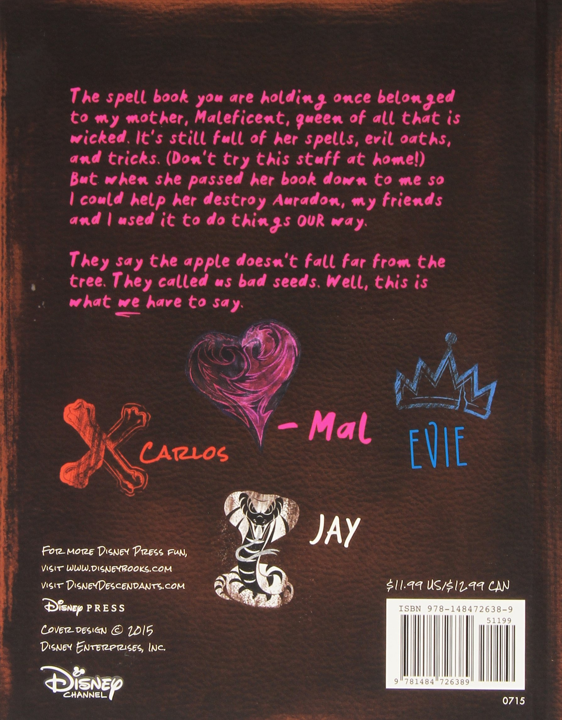 Descendants Mal S Spell Book Disney Book Group Disney Storybook