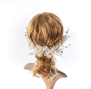 Amazon Com Bridal Floral Hairwreath Bridal Flower Crown Wedding