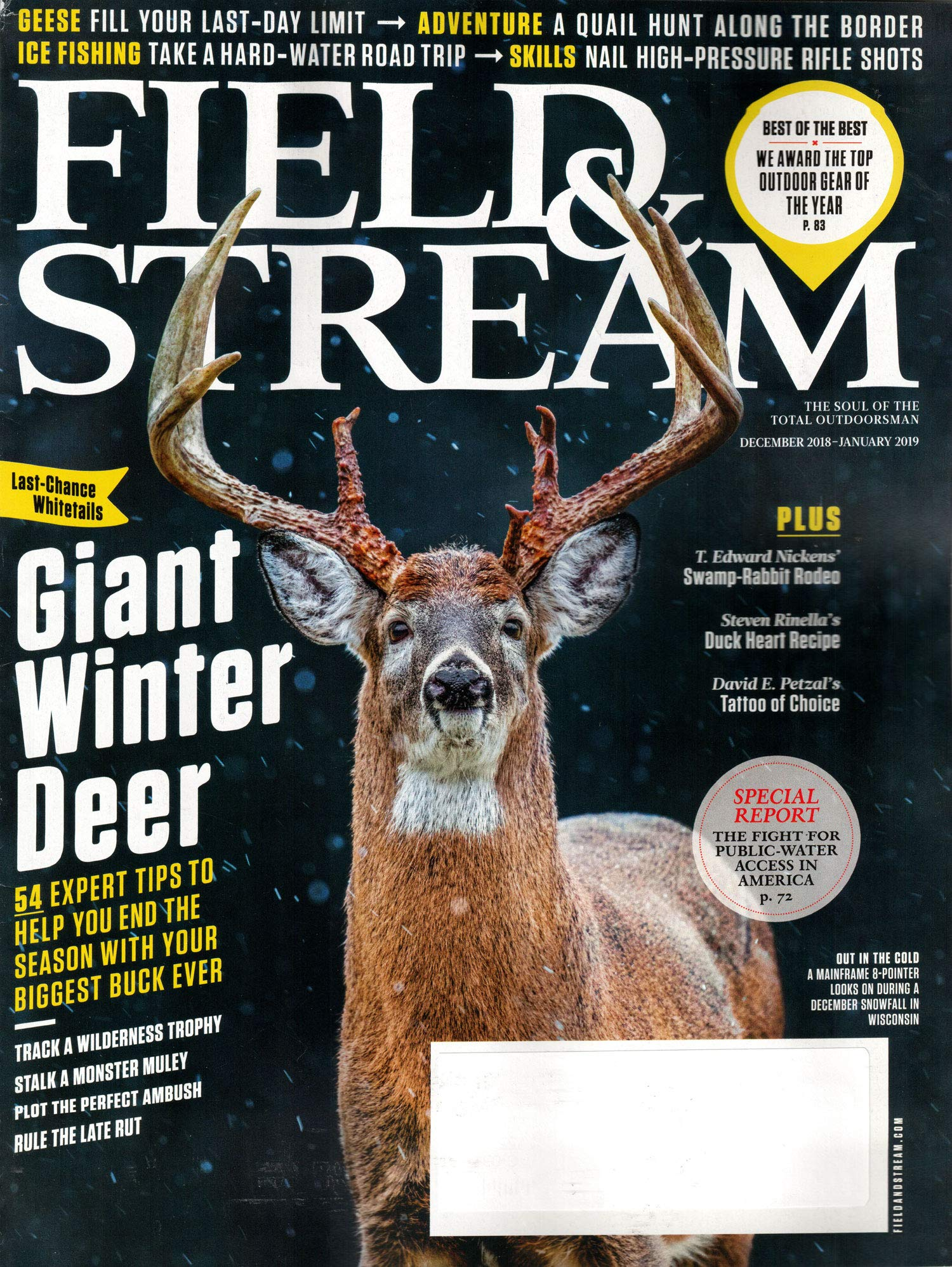Image result for field & stream magazine showing buck with antlers