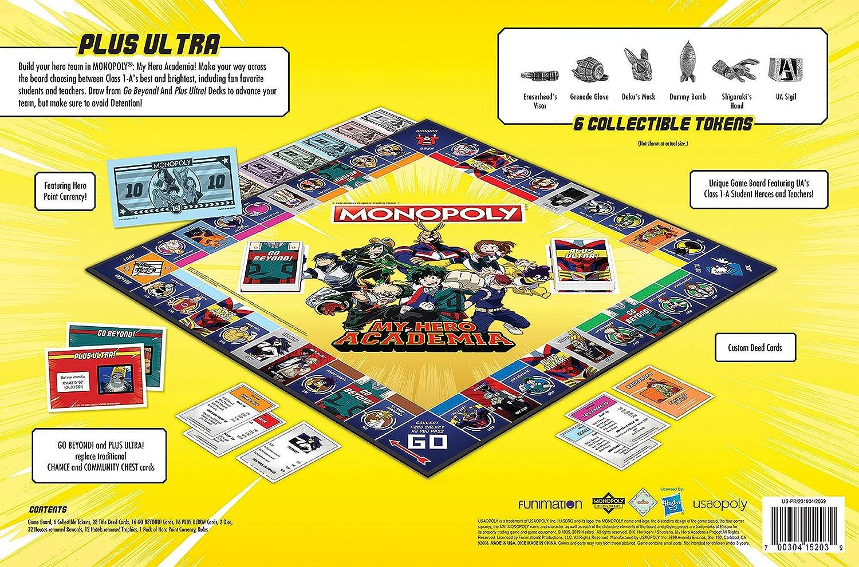 My Hero Academia Monopoly Juego de Mesa: Amazon.es: Juguetes y juegos