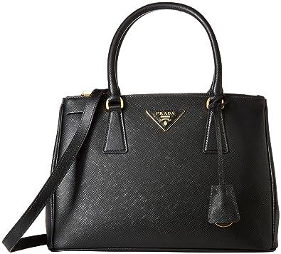 Prada Shoulder Bag for Women On Sale, Black, Saffiano Leather, 2017, one size