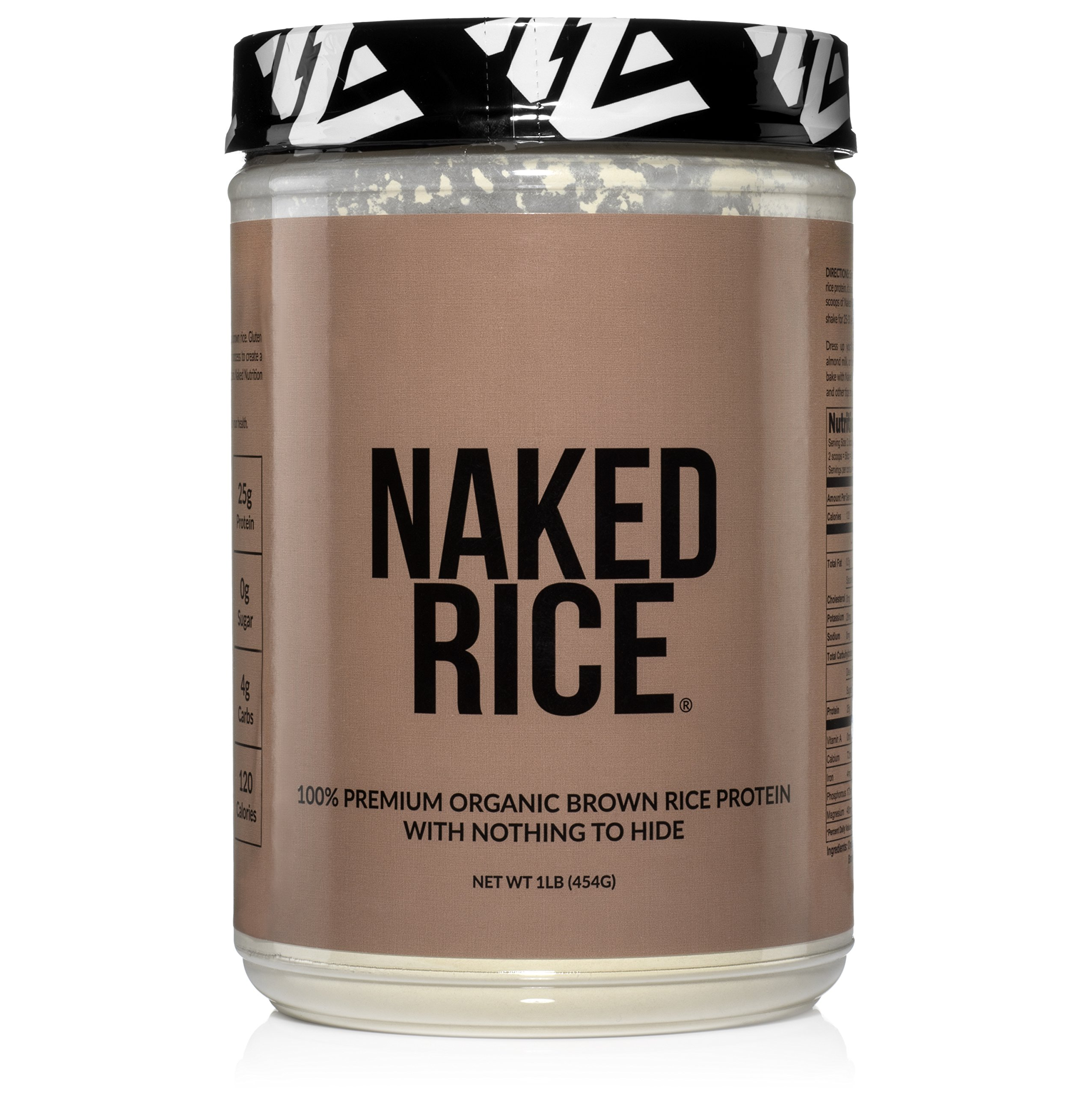 Naked Rice 1LB - Organic Brown Rice Protein Powder - Vegan Protein Powder - 5lb Bulk, GMO Free, Gluten Free & Soy Free. Plant-Based Protein, No Artificial Ingredients - 15 Servings by NAKED nutrition