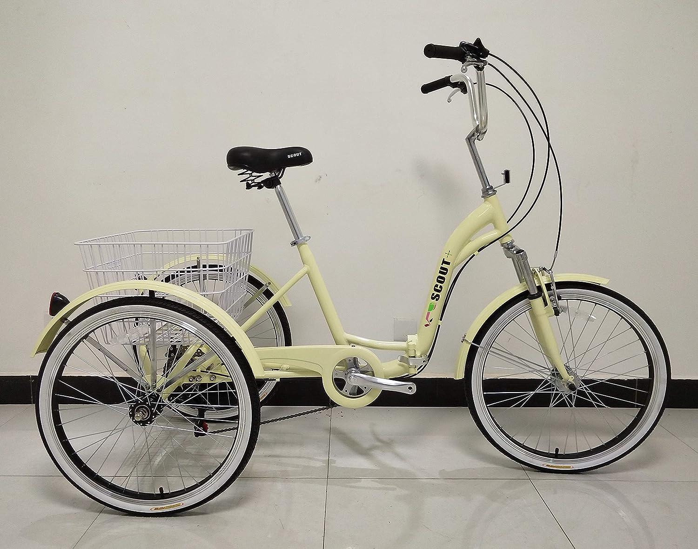 Scout Triciclo para Adulto, Cuadro de aleación, Plegable, 6 Marchas, con suspensión Delantera - Negro: Amazon.es: Deportes y aire libre