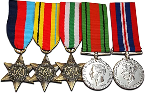 Juego de medallas Militares WW2, 5 Unidades, Premio, Royal British Army Service Corps Group War and Defense Medal Repro: Amazon.es: Deportes y aire libre