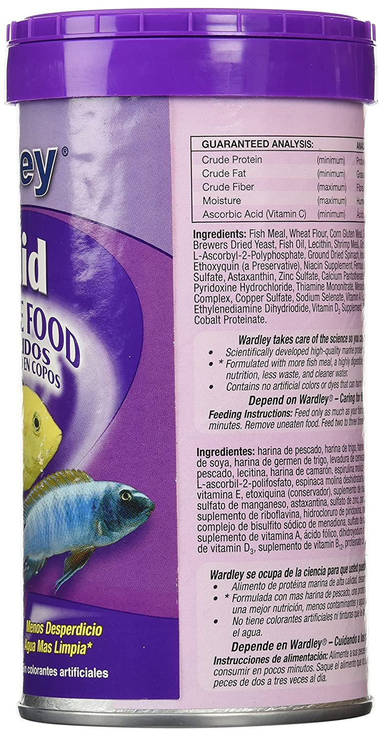 Amazon.com: HARTZ Wardley Cichlid Fish Food Flakes - 1.87oz: Pet Supplies