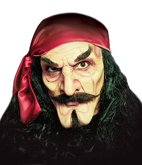 Deluxe Adult Costumes - Captain Hook foam prosthetics face mask