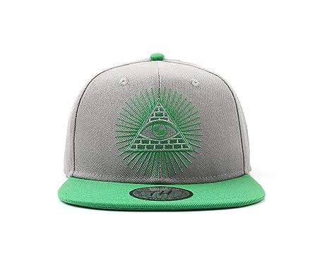 True Heads Gorra de béisbol con diseño de cabezas auténticas, color gris y verde