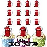 prédécoupés Arsenal maillots de football comestible pour cupcakes/gâteau Décorations (lot de 12)