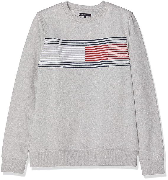 Tommy Hilfiger Essential Flag Sweatshirt, Sudadera para Niños: Amazon.es: Ropa y accesorios