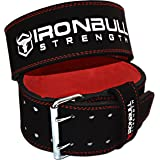 PowerLifting Belt - 10mm Double Prong - 4-inch Wide - Heavy Duty for Extreme Weight Lifting Belt