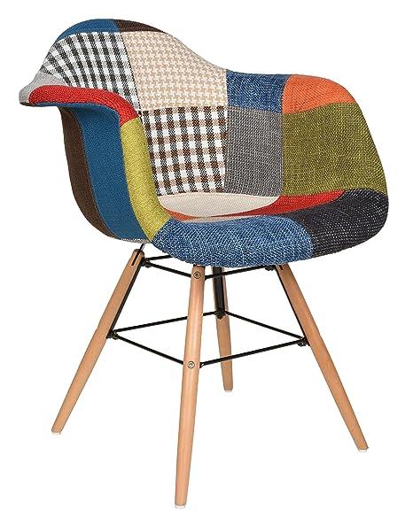 ts-ideen Silla de diseñador para comedor cocina asiento madera