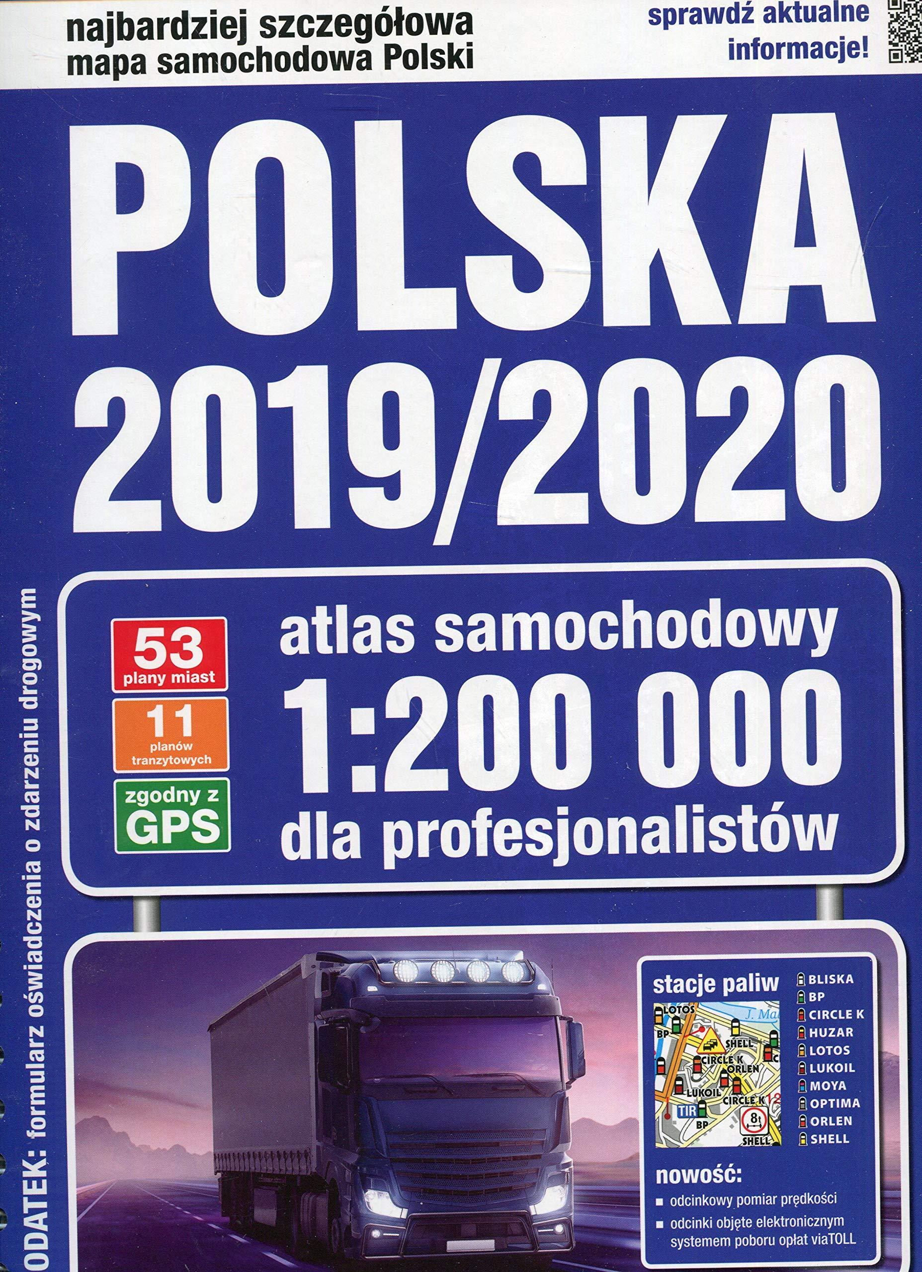 Atlas Samochodowy 2019 2020 Polska 1 200 000 Ksiaĺtka Unknown