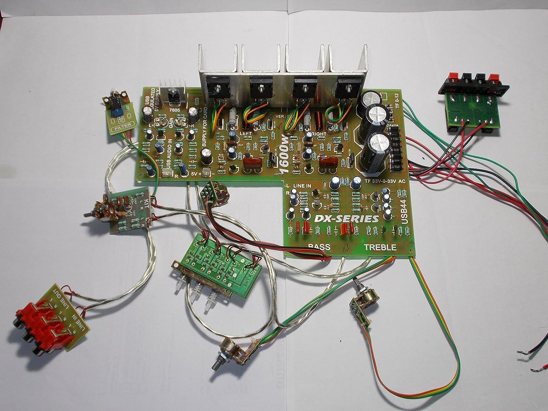 Soumik Electricals Pcb 1600w Power Amplifier Kit With Dx Audio Filter Circuit Electronics