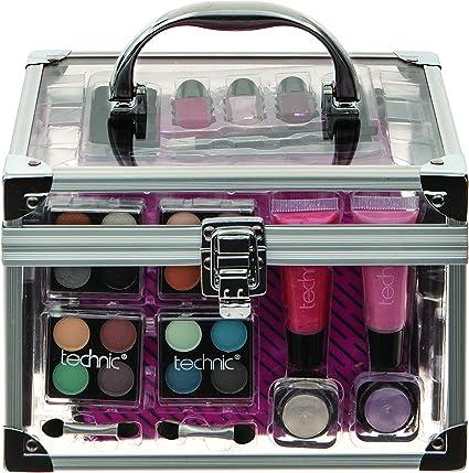 Technic Estuche de Maquillaje Mediano Transparente - 832 gr: Amazon.es: Belleza