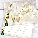 doodlecards 30th birthday party invitations female invites pack of