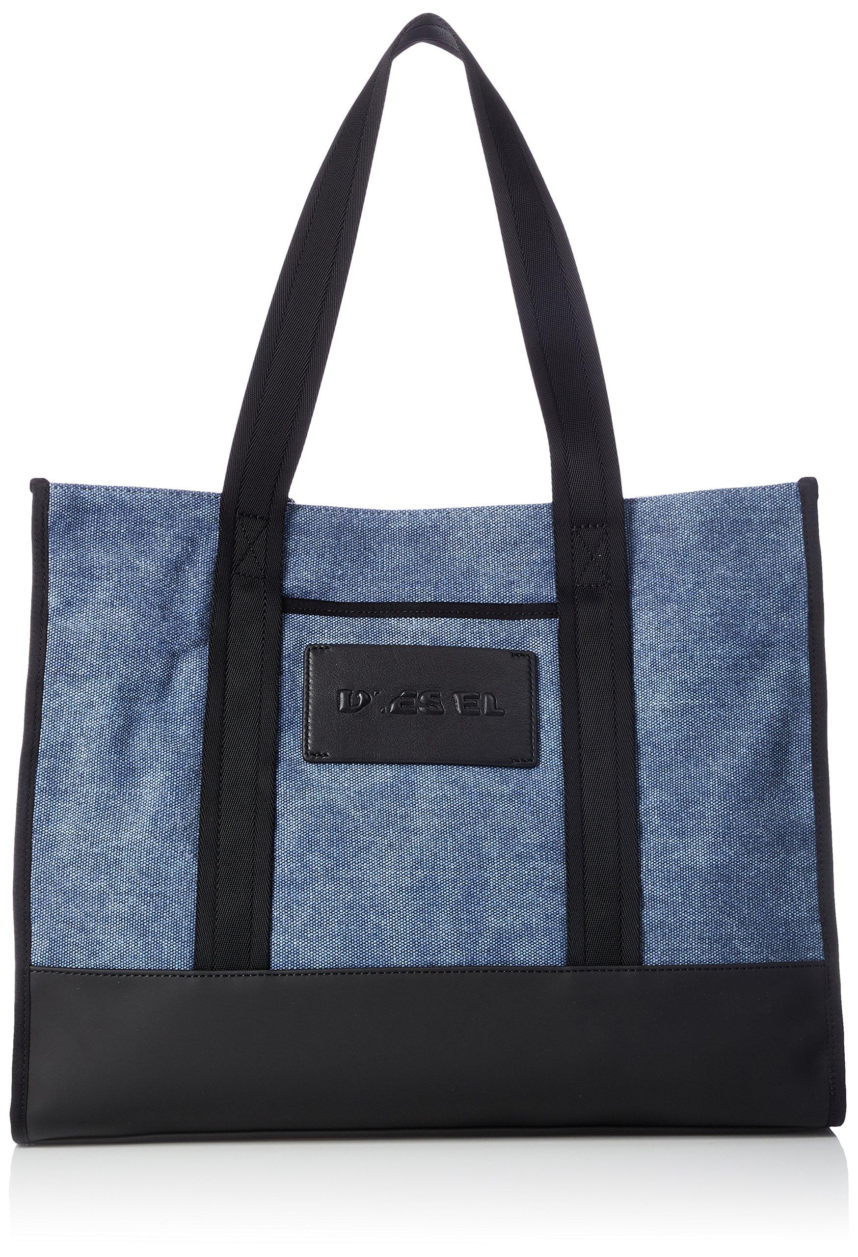 Diesel Men's M-CAGE Shopper-Shopping Bag, peacoat blue/black, One Size