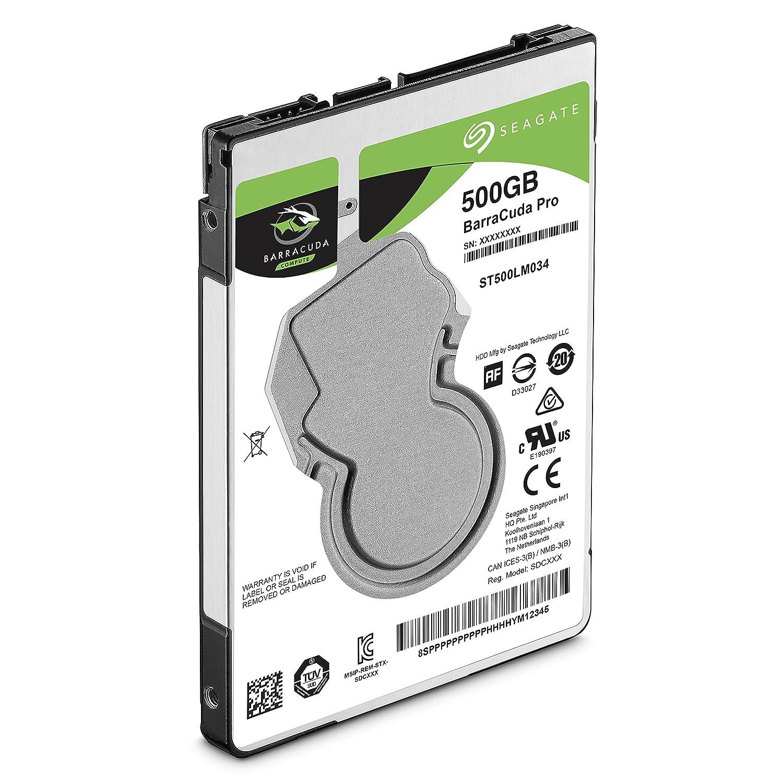 Seagate 500GB Barracuda Pro interno 6,3cm hard drive Componenti 7200giri/min, 128MB Cache, SATA 6Gb/s, fino a 160MB/s, Model: ST500LMZ34/LM034