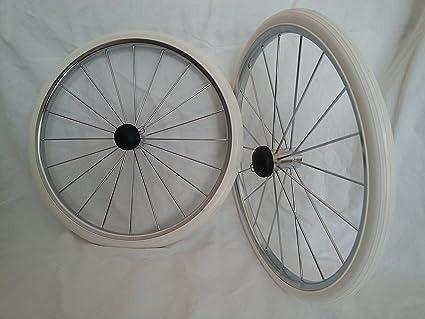 2 x Carrito ruedas 350/400 mm metal ruedas de radios ...