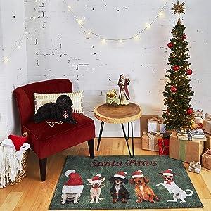 Mohawk Home Santa Paws Multi Area rug, 2'6x4'2,