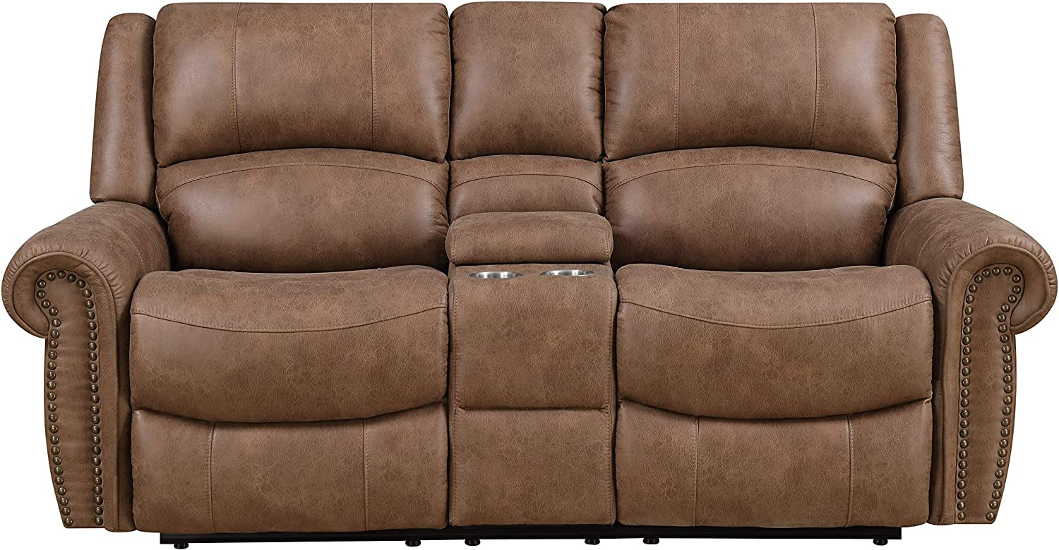 Emerald Home Furnishings Spencer Love Seats, Brown