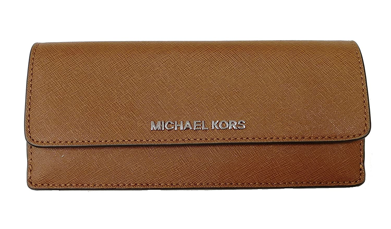426208cf5e8ff ... discount michael kors jet set travel flat saffiano leather wallet black pearl  grey at amazon mens