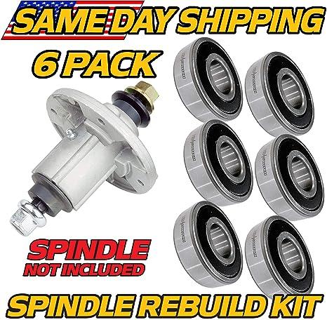 HD Switch (6 Pack) Spindle Rebuild Bearings John Deere D100, D140, D150,  D155, D160, D170 Compatible with John Deere