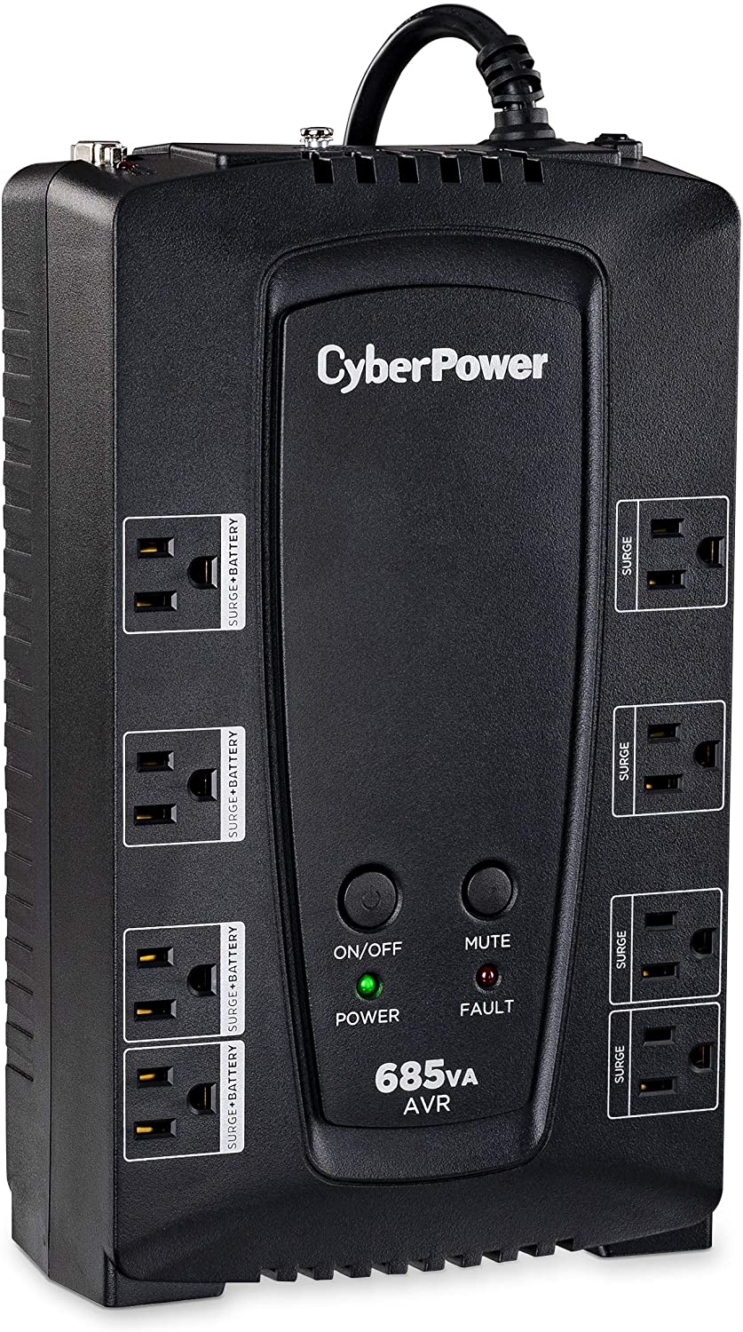 CyberPower CP685AVRG AVR UPS System, 685VA/390W, 8 Outlets, Compact