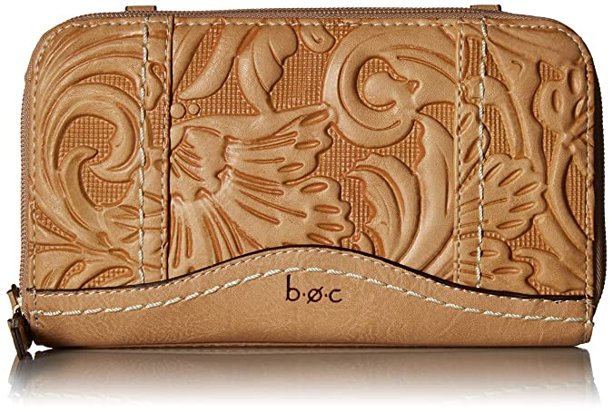 Amazon.com: b.o.c. Botanica - Cartera con cremallera doble ...
