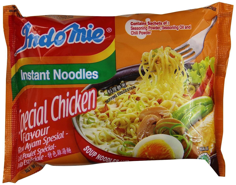 Indomie Mi Goreng Instant Stir Fry Noodles, Halal Certified, Chicken Rasa Flavor (Pack of 30)