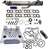 UPGRADED Ford 6.0L EGR cooler bullet proof tube design plus engine oil cooler kit w/ gaskets Ford 6.0L diesel turbo F250 F350 F450 Excursion