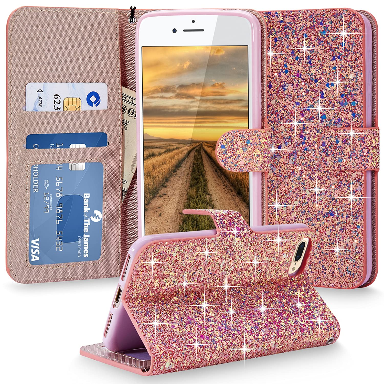 iPhone Cellularvilla Glitter Leather Protective Image 1