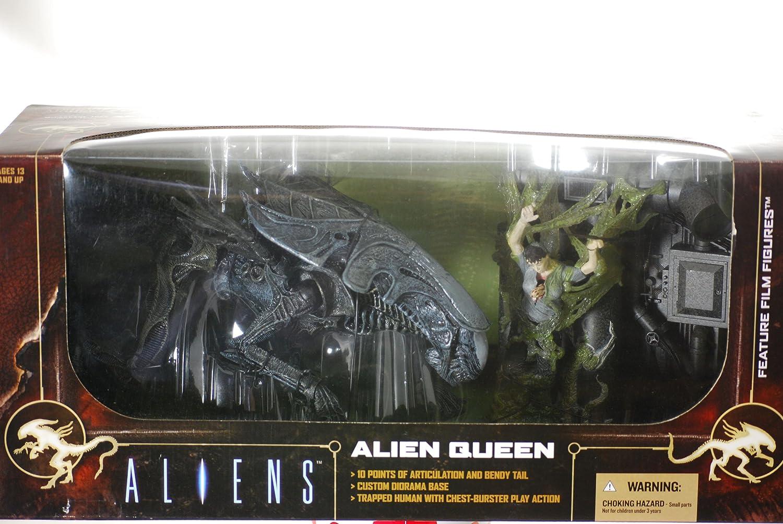 Mcfarlane Movie Maniacs 6 Aliens Alien Queen Deluxe Boxed Set Feature Film Figures - aliens xenomorph queen deluxe figure