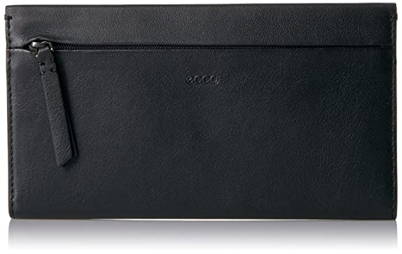 Ecco Womens Sculptured Large Wallet, Black, 1.5x11x19 cm (Wxhxd) Ecco