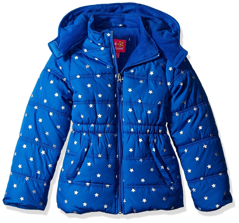 Pink Platinum girls Printed Foil Star Puffer Jacket 74306