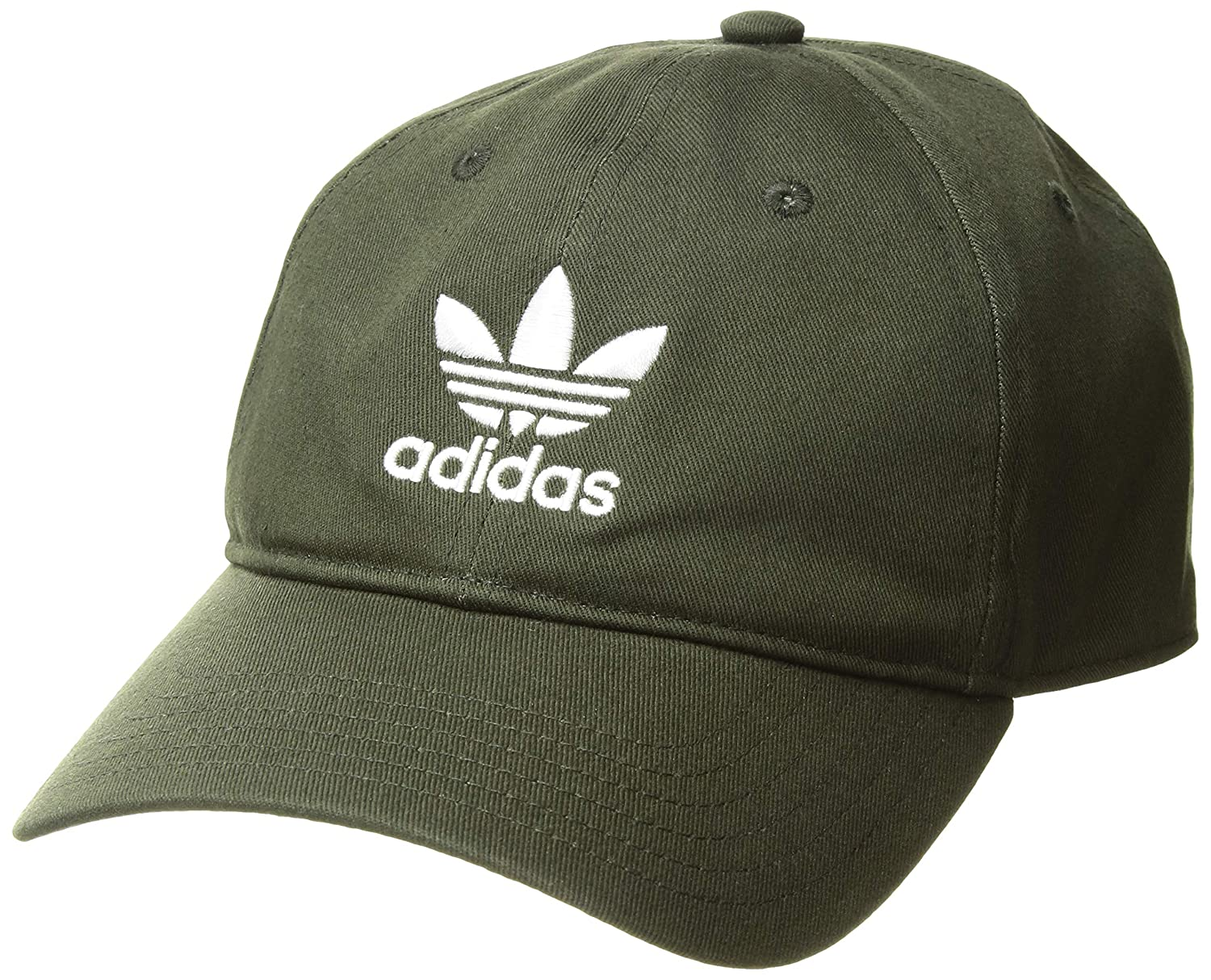 One Size Agron Hats /& Accessories 975950 adidas Men/'s Originals Relaxed Strapback Cap Night Cargo//White