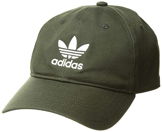 best sneakers 19119 e5e0a adidas Men s Originals Relaxed Strapback Cap, Night Cargo White, One Size