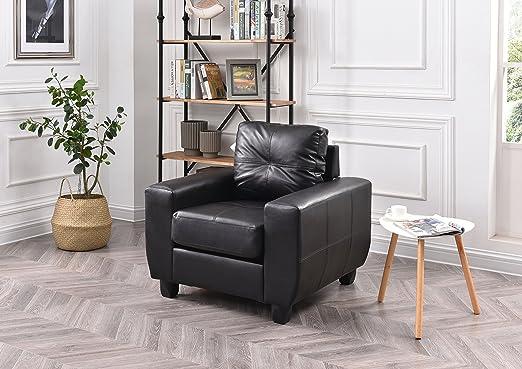 Amazon.com: Glory muebles g203 a-c tapizado sillón, PU ...