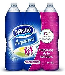 Nestlé Aquarel Agua Mineral Natural - Pack de 6 x 1,5 l - Total