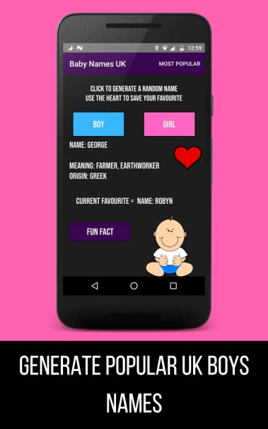 Amazon Com Baby Names Generator Uk Appstore For Android