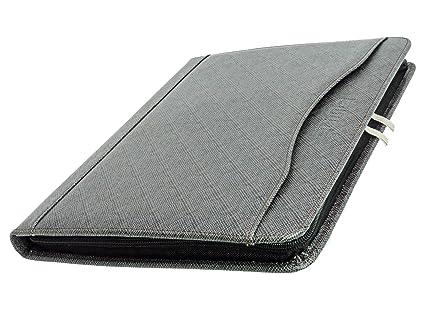 amazon com zipper binder business card organizer leather padfolio