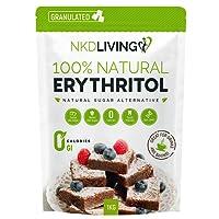 Eritritol 100 % natural 1 kg | Sustituto del azúcar con cero calorías