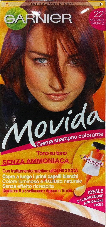 6 x Movida Crema Champú Color Caoba cobrizo 22
